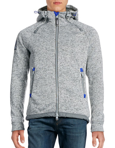 Superdry Zip-Up Knit Hoodie-GREY-Large 88705367_GREY_Large