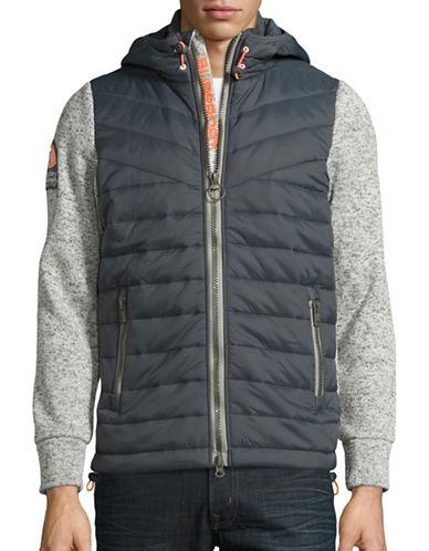 Superdry Mountain Mixed Media Hooded Jacket-GREY-Small 88708878_GREY_Small