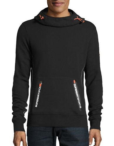 Superdry Gym Tech Funnel Neck Hoodie-BLACK-Large 88705382_BLACK_Large