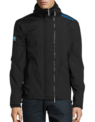 Superdry Hooded Sports Jacket-BLACK-Small 88705445_BLACK_Small