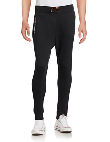 Superdry Drawstring Sweatpants-BLACK-Medium 88705456_BLACK_Medium