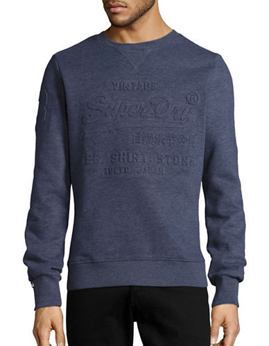 Superdry Embossed Hoodie-BLUE-Small 88880738_BLUE_Small