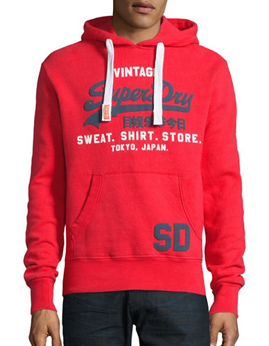 Superdry Sweat Shirt Store Hoodie-RED-Medium 88705376_RED_Medium