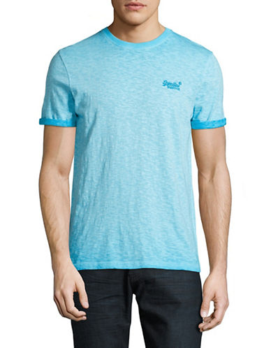 Superdry Low Roller T-Shirt-LIGHT BLUE-Small