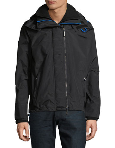 Superdry Windcheater Zip Jacket-BLACK-Medium