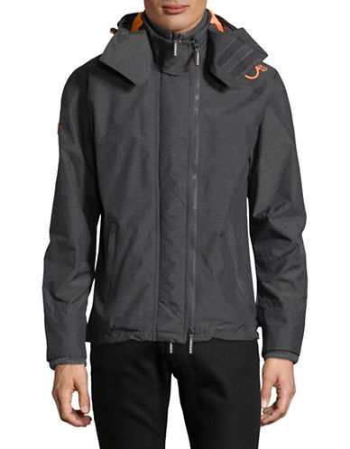 Superdry Windcheater Zip Jacket-CHARCOAL-Large
