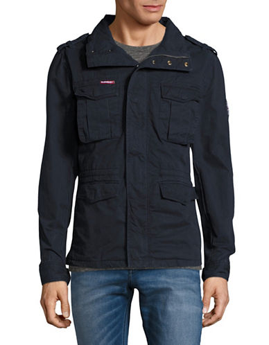 Superdry Rookie Military Jacket-BLUE-Large 89150024_BLUE_Large