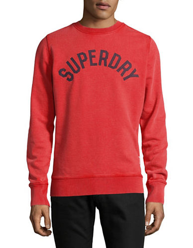 Superdry Logo Crew Neck Sweatshirt-RED-Large 89275785_RED_Large