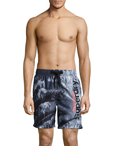 Superdry Tropical Photo Swim Shorts-BLUE-X-Large 89235079_BLUE_X-Large