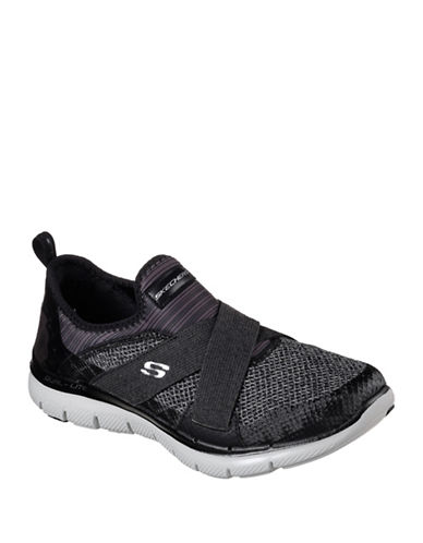 Skechers Womens Flex Appeal 2.0 Athletic Sneakers-BLACK-10