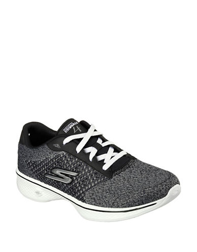 Skechers Go Walk 4 Exceed Running Shoes-BLACK-5 88460881_BLACK_5