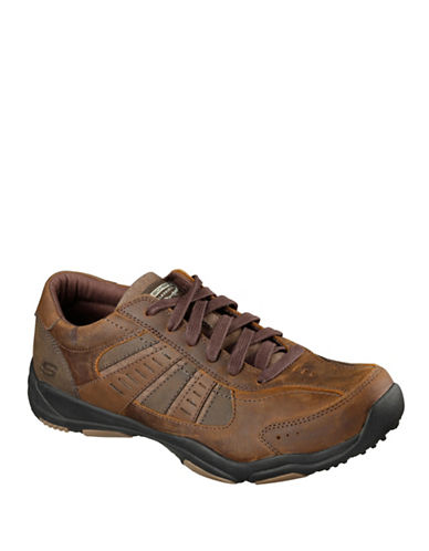 Skechers Larson-Nerick Oxford Sneakers-DARK BROWN-7.5