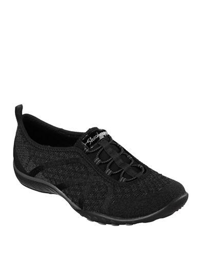 Skechers Breathe Easy Slip-On Sneakers-BLACK-7