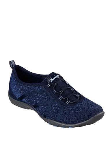Skechers Breathe Easy Slip-On Sneakers-NAVY-9