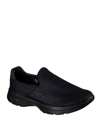 Skechers Mens Go Walk 4 Remarkable Sneakers-BLACK-8.5