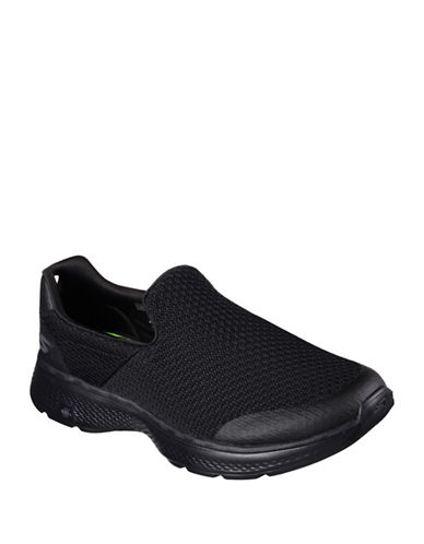 Skechers Mens Go Walk 4 Slip-Ons-BLACK-7.5