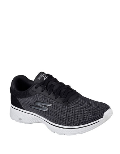 Skechers Mens Go Walk 4 Sneakers-BLACK-8.5