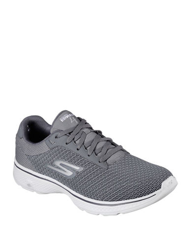 Skechers Mens Go Walk 4 Sneakers-CHARCOAL-10 89188638_CHARCOAL_10