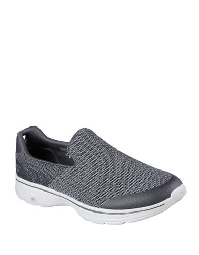 Skechers Mens Go Walk 4 Slip-Ons-CHARCOAL-7.5