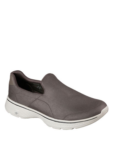 Skechers Go Walk 4 Remarkable Slip-On Shoes-KHAKI-10