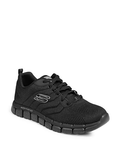 Skechers Flex 2.0 Milwee Sneakers-BLACK-8.5