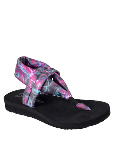 Skechers Yoga-Foam Sandals-BLACK-11