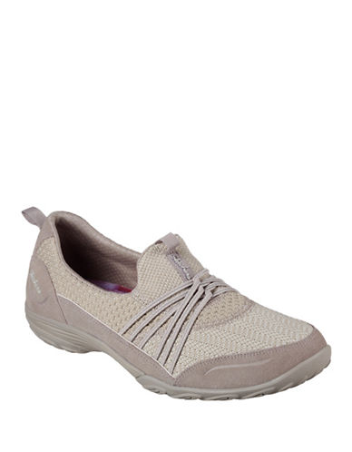 Skechers Womens Empress Low-Top Sneakers-TAUPE-8.5