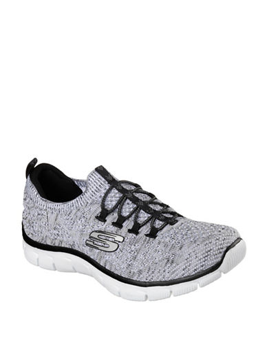 Skechers Womens Empire Sharp Thinking Sneakers-WHITE-8