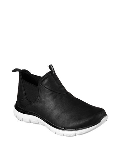 Skechers Flex Appeal Microleather Sneakers-BLACK-9