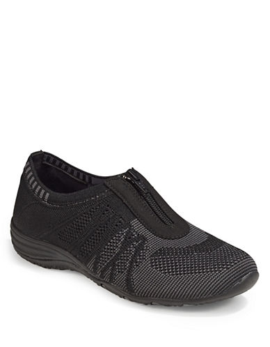 Skechers Unity Zip Sneakers-BLACK-6