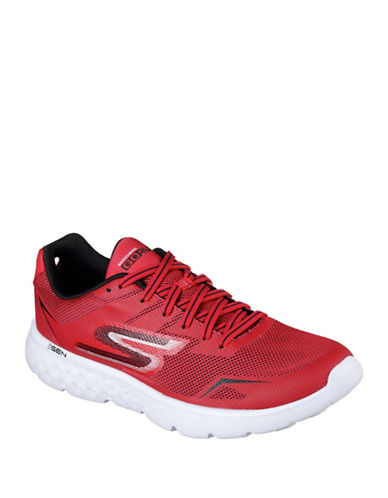 Skechers Mens Go Run 400 Disperse Sneakers-RED-8 89040037_RED_8