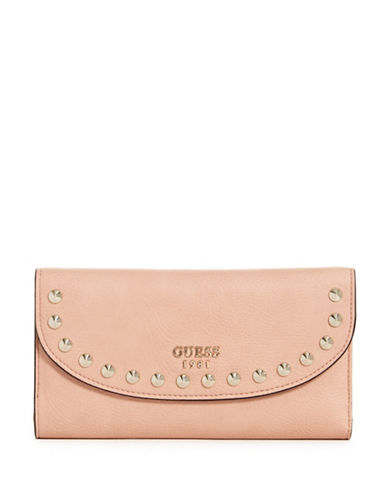 Guess Fynn Studded Clutch-PINK-One Size