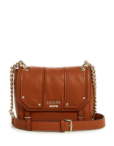 Guess Rikki Crossbody Bag-BROWN-One Size