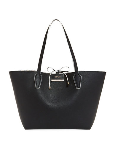 Guess Bobbi Inside Out Tote-BLACK STRIPE-One Size