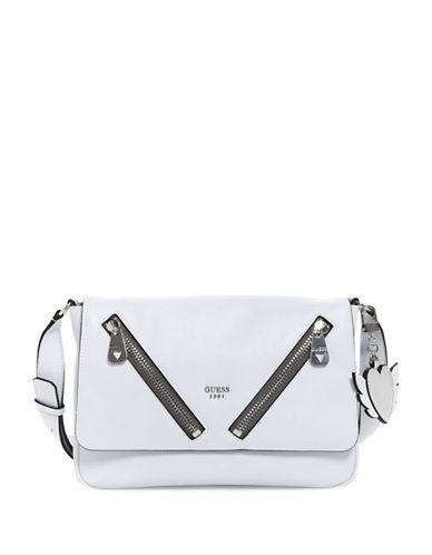 Guess Bradyn Crossbody Bag-WHITE-One Size