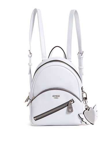 Guess Bradyn Small Backpack-WHITE-One Size