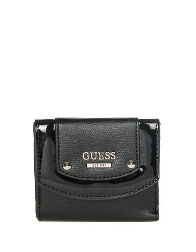 Guess Cool Mix Card Purse-BLACK-One Size