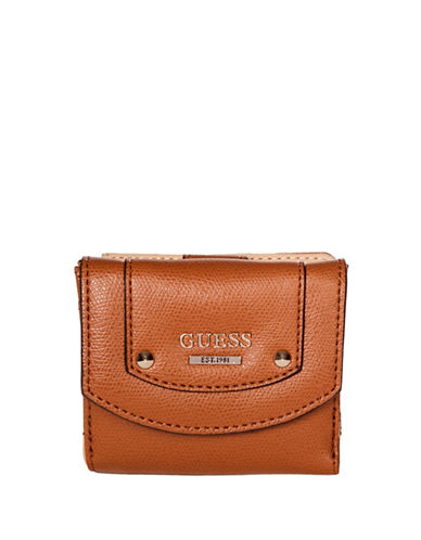 Guess Cool Mix Card Purse-BROWN-One Size