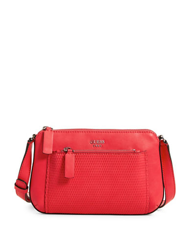 Guess Blakley Mini Crossbody Bag-RED-One Size