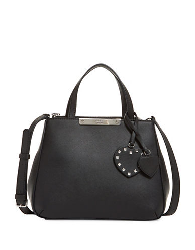 Guess Britta Small Satchel-BLACK-One Size