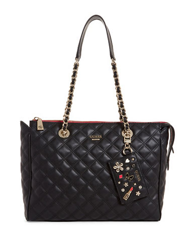 Guess Darin Quilted Carryall-BLACK-One Size
