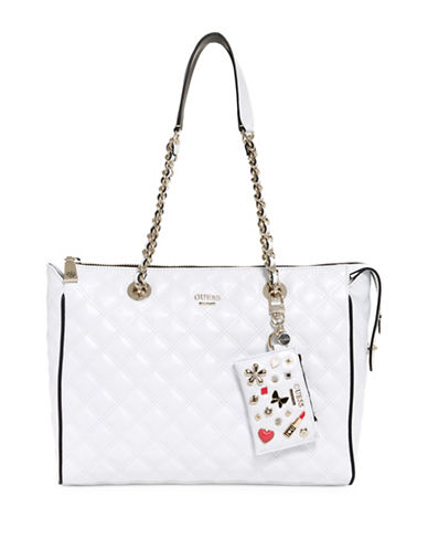 Guess Darin Quilted Carryall-WHITE-One Size