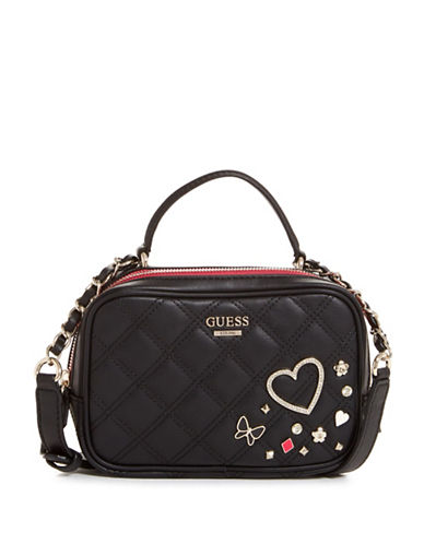 Guess Darin Mini City Bag-BLACK-One Size