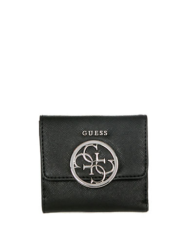 Guess Kamryn Card Purse-BLACK-One Size