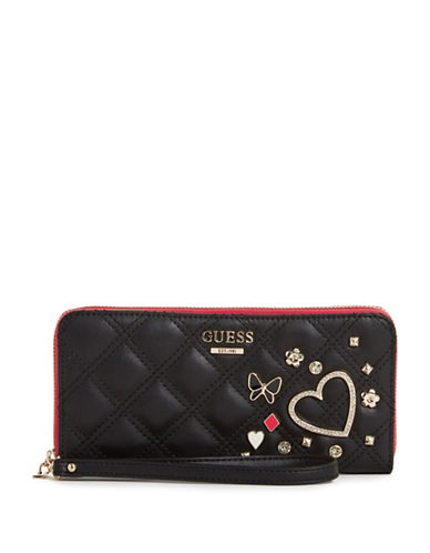 Guess Darin Zip-Around Wallet-BLACK-One Size