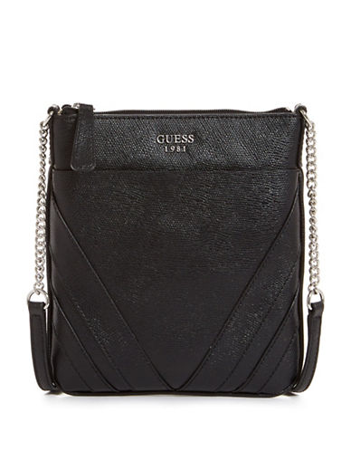 Guess Slater Mini Crossbody Bag-BLACK-One Size
