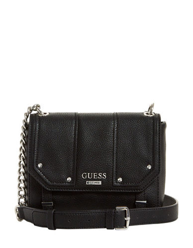 Guess Rikki Crossbody Bag-BLACK-One Size