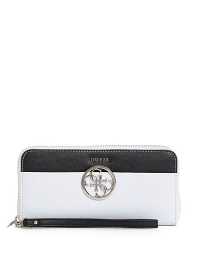 Guess Kamryn Colourblock Wallet-WHITE-One Size