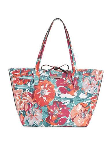 Guess Bobbi Inside Out Tote Bag-FLORAL-One Size