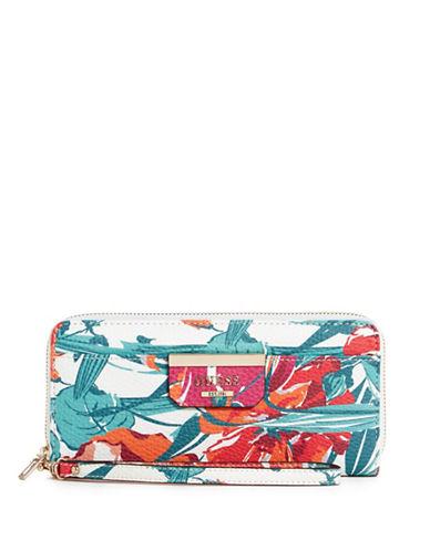 Guess Bobbi Floral-Print Wallet-FLORAL-One Size